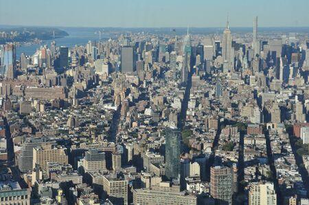 1 つの世界貿易センター、ニューヨークのマンハッタンでからの眺め