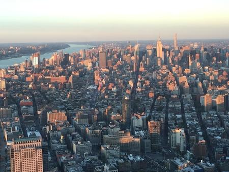 world trade center: View from One World Trade Center in Manhattan, New York Stock Photo
