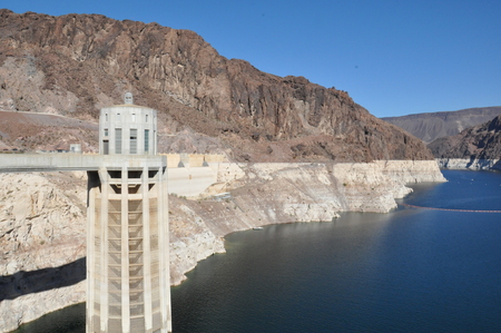 mead: Lake Mead near Hoover Dam in Nevada Stock Photo
