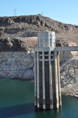 hoover: Intake Towers at Hoover Dam in Nevada
