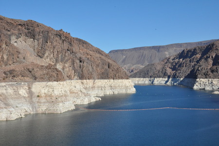 hoover: Lake Mead near Hoover Dam in Nevada Stock Photo