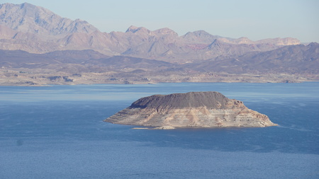 Lake Mead near Hoover Dam in Nevada Stock Photo