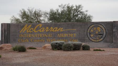bustle: McCarran International Airport in Las Vegas Editorial