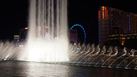 sin city: Bellagio Fountains in Las Vegas