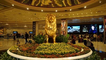 strip club: MGM Grand in Las Vegas Editorial
