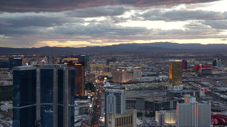 Aerial View of Las Vegas in Nevada