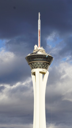 stratosphere: Stratosphere Tower in Las Vegas Editorial