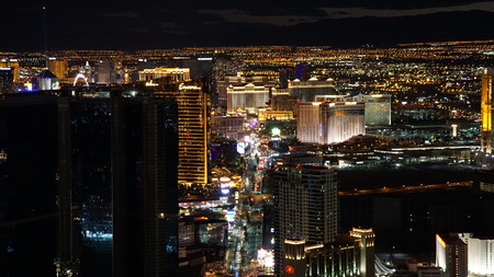 stratosphere: View of Las Vegas Strip from Stratosphere Observation Deck