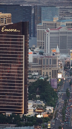 View of Las Vegas Strip from Stratosphere Observation Deck