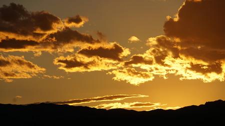 nevada: Sunset in Las Vegas, Nevada Stock Photo