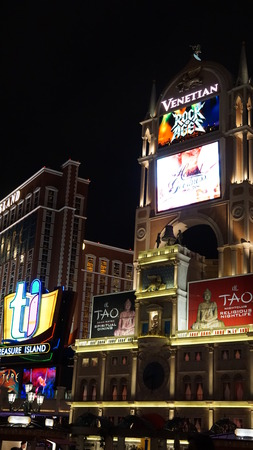 sin city: The Venetian Resort Hotel Casino in Las Vegas Nevada Editorial