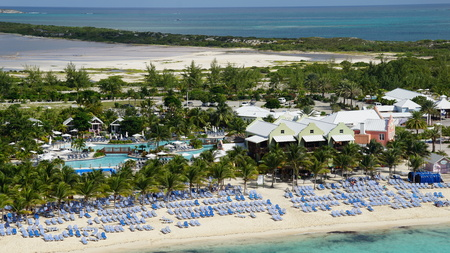 Governors Beach on Grand Turk Island in the Turks and Caicos Islands