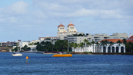 View of West Palm Beach in Florida 新聞圖片