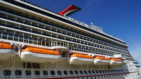 romana: Carnival Breeze cruise ship in La Romana, Dominican Republic Editorial