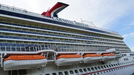 breeze: Carnival Breeze cruise ship in La Romana, Dominican Republic Editorial