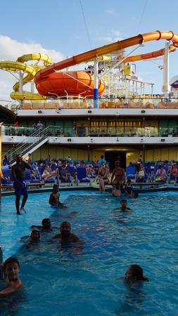 lido: Carnival Breeze cruise ship in La Romana, Dominican Republic Editorial