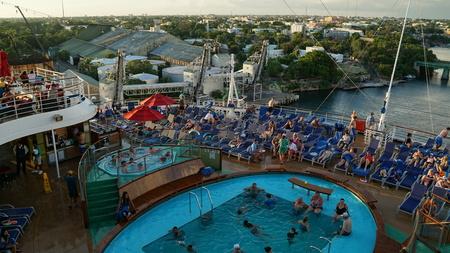 romana: Carnival Breeze cruise ship in La Romana, Dominican Republic Editorial