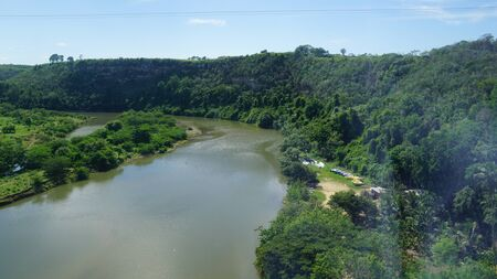 romana: Chavon River flowing through La Romana in the Dominican Republic