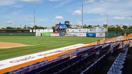 sitting on the ground: Francisco A. Micheli stadium in La Romana, Dominican Republic Editorial