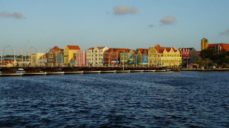 colourfully: Queen Emma Pontoon Bridge in Willemstad, Curacao