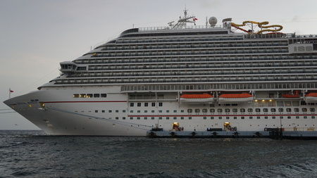 curacao: Carnival Breeze docked in Willemstad, Curacao