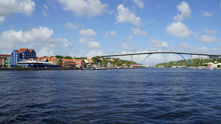 juliana: Queen Juliana bridge in Willemstad, Curacao Editorial