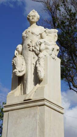 Queen Wilhelmina Statue in Curacao