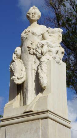 curacao: Queen Wilhelmina Statue in Willemstad in Curacao