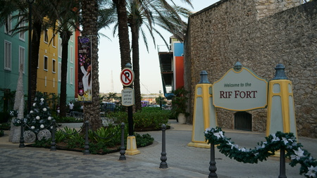 curacao: Rif Fort in Willemstad, Curacao Editorial