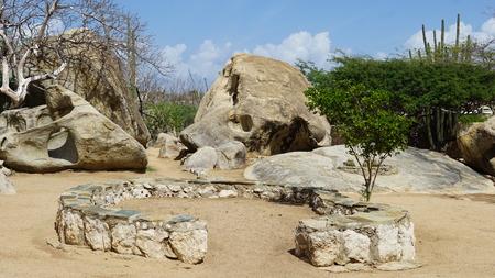dutch girl: Casibari Rock Formation in Aruba
