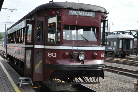 industrial park: Electric City Trolley Museum in Scranton, Pennsylvania