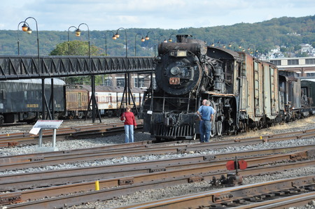 industrial park: Trains at the Steamtown National Historic Site in Scranton, Pennsylvania