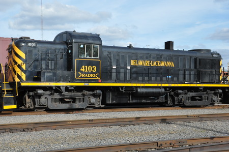 historic site: Trains at the Steamtown National Historic Site in Scranton, Pennsylvania