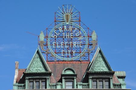 locomotion: Scranton Electric Building in Pennsylvania Editorial