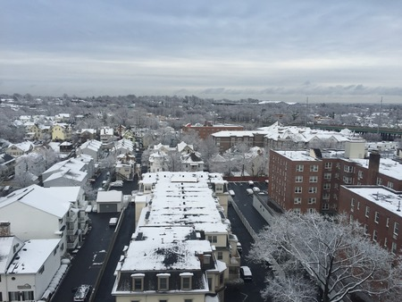 Snow in Stamford, Connecticut