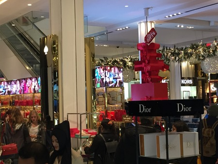 flagship: Christmas decor at Macys flagship store at Herald Square in New York