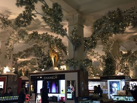 Christmas decor at Macy's flagship store at Herald Square in New York