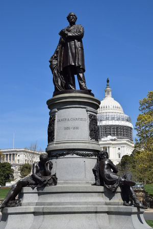 us capitol: James Garfield Monument, on the grounds of the US Capitol in Washington, DC