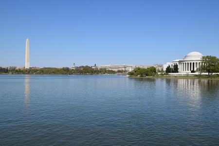 jefferson: Thomas Jefferson Memorial and Washington Monument in Washington, DC