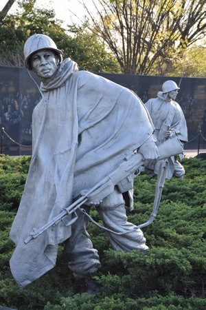 dc: Korean War Veterans Memorial in Washington DC