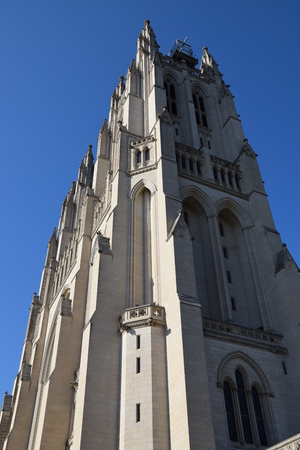 dc: The National Cathedral in Washington, DC Stock Photo