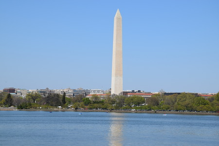 dc: Washington Monument in Washington DC Stock Photo