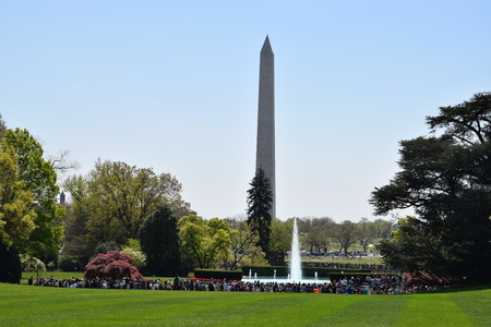 View of Washington Monument from The White House in Washington, DC