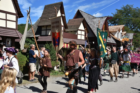 The 2016 Renaissance Faire in Tuxedo Park, New York State, as seen on Sep 11, 2016. The New York Renaissance Faire was originally created in 1978. Imagens - 117388664
