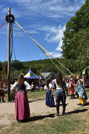 The 2016 Renaissance Faire in Tuxedo Park, New York State, as seen on Sep 11, 2016. The New York Renaissance Faire was originally created in 1978. Imagens - 117388704