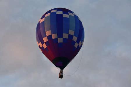 Balloon launch at dawn at the 2016 Adirondack Hot Air Balloon Festival in New York