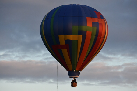 Balloon launch at dawn at the 2016 Adirondack Hot Air Balloon Festival in New York