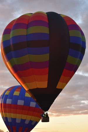 Balloon launch at dawn at the 2016 Adirondack Hot Air Balloon Festival