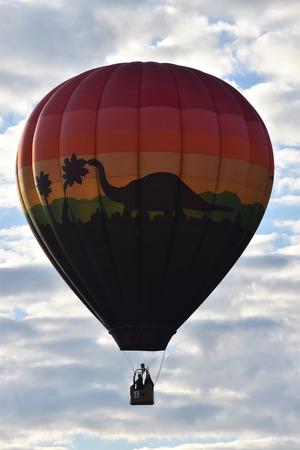 Balloon launch at dawn at the 2016 Adirondack Hot Air Balloon Festival