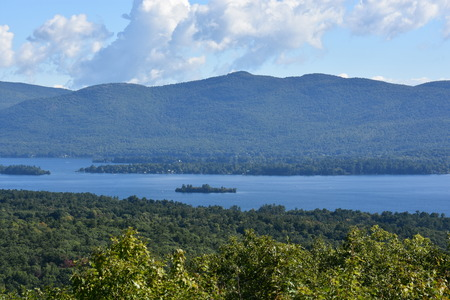 View of Lake George, from Prospect Mountain, in New York State 版權商用圖片